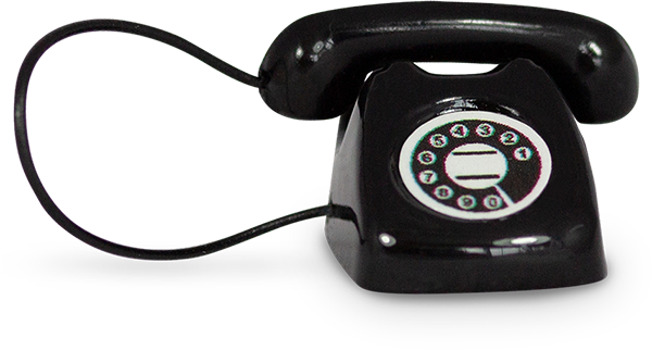An image of a miniature rotary telephone